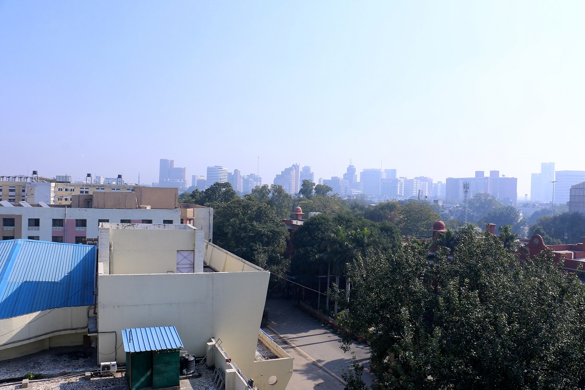 Connaught Place Skyline as seen from new Academic Block being constructed